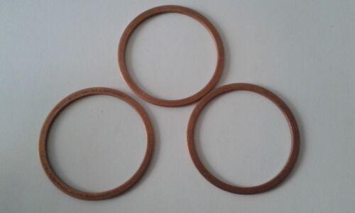3 Stück Kupferdichtring  Dichtung Kupfer 20x26x1,5 mm DIN 7603  Form A