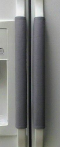 Refrigerator Oven Door Handle Padded Covers 20 Inches Long Dark Gray Set of 3
