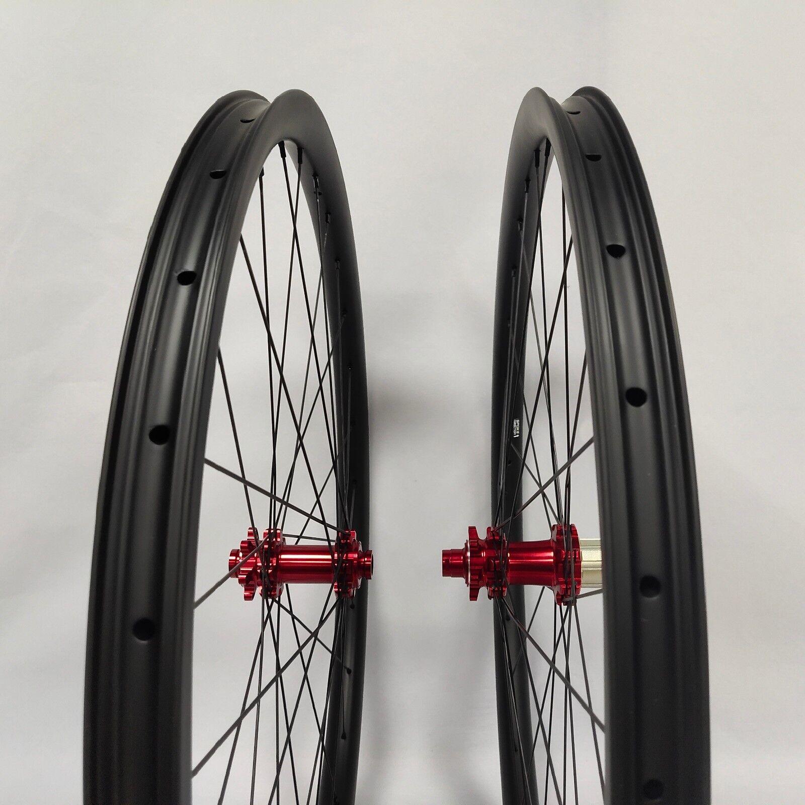 29ER carbon fiber bike wheels MTB wheels 33mm width 12100 12142 gravel bike