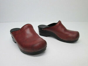 8a332c742f6da Details about DANSKO WOMENS OPEN BACK CLOGS BROWN LEATHER PROFESSIONAL  SHOES SIZE 37
