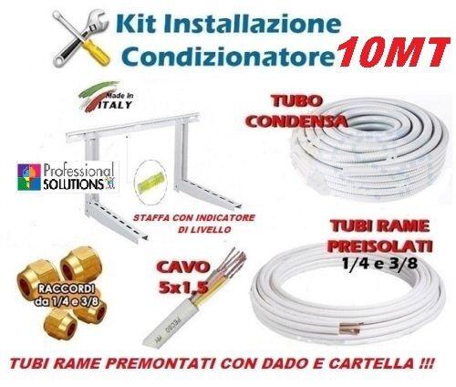 KIT INSTALLAZIONE CLIMATIZZATORE MONTAGGIO CONDIZIONATORE 10MT RAME 1//4-3//8 STAF