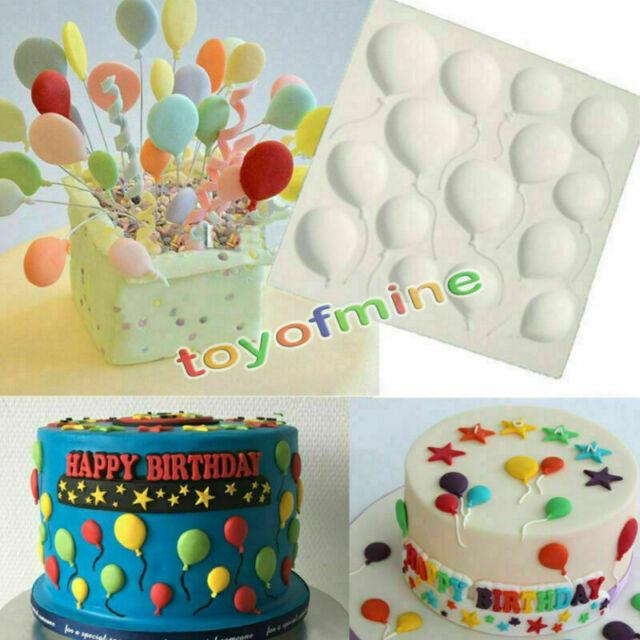 Balloons Silicone Fondant Cake Decorating Sugarcraft Chocolate Mold Baking Tool