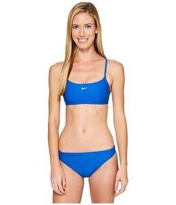 Nike-159978-Women-039-s-Active-Blue-Bikini-Top-Size-Medium
