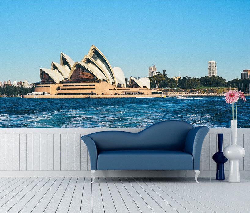 3D Sea Building 5 Wallpaper Murals Wall Print Wallpaper Mural AJ WALL UK Summer