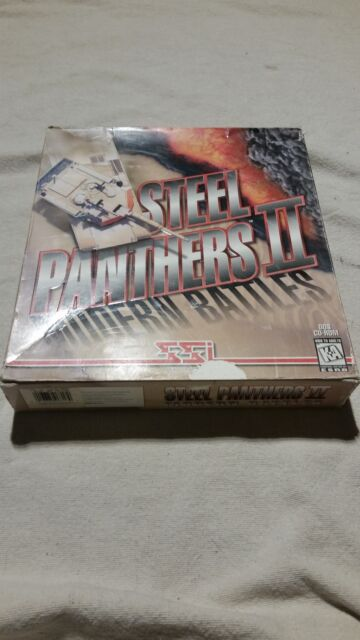 Steel Panthers II: Modern Battles (PC, 1996) COMPLETE BIG BOX