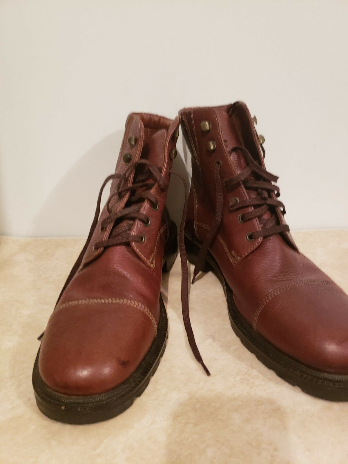 Cole Haan Brown Leather Cap Toe Lace Up Boot Men's Size 11