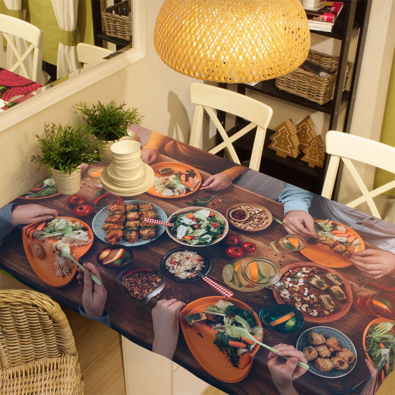 3D Food 4 Nappe Table Cover Cloth fête d'anniversaire AJ papier peint Royaume-Uni Citron