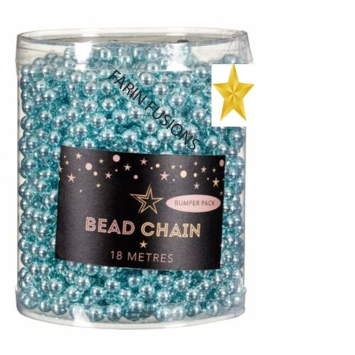 18M Blue GARLAND BEAD CHAIN CHRISTMAS TREE BAUBLES BEADS DECORATIONS