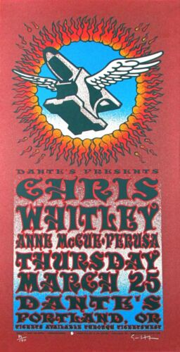Chris Whitley Poster Anne McCue Dante/'s Portland 2004 Signed to 140 Gary Houston