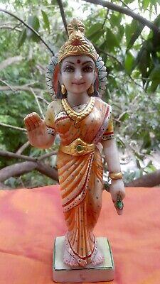 Déesse Radha Statue en marbre Sculpture Krishna 1,73 kilos fait main Inde Hindou