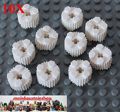 Riffel 10X Lego® 92947 runde Basic Profil Rillensteine 2X2 Weiß White NEU