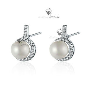 18K-GOLD-GF-MADE-WITH-SWAROVSKI-CRYSTAL-PEARL-WEDDING-STUD-EARRINGS-SMALL-CUTE