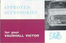 Vauxhall Victor Approved Accessories SP772/10/62 Brochure