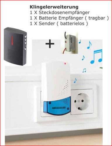 per impianto campanello Estensione Campanello radio ricevitore 2 230 Volt Batteria U