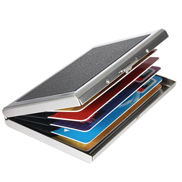 Waterproof Aluminum Business ID Credit Card Portable Holder Case Box Mini Wallet