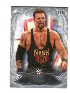 WWE-Kevin-Nash-28-2015-Topps-Undisputed-Silver-Parallel-Base-Card-SN-20-of-25