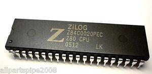 5pcs Z84C0020PEC Z84C0020 NMOS/CMOS Z80 CPU CENTRAL PROCESSING UNIT DIP-40 mjL4