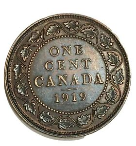 1919-Canada-1-Cent-One-Large-Cent-Penny-Coin-free-combined-shipping-512787