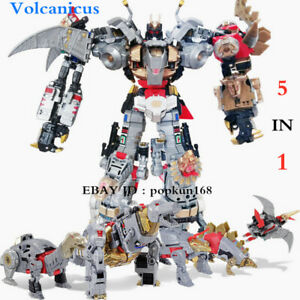 """New BPF Volcanicus Dinobot 5 In 1 Power of the Primes Action Figure 13"""" Toys"""