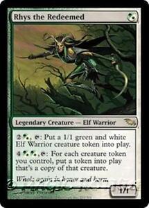 Details About Rhys The Redeemed Shadowmoor Mtg White Green Creature A Elf Warrior Rare