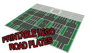 Lego 11 Quot X17 Quot Printable Road Plate Parking Lot Dark Gray