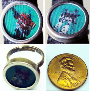 Rare-Old-Vintage-Transformers-Optimus-Prime-Flicker-Ring-Small-Adjustable-Metal