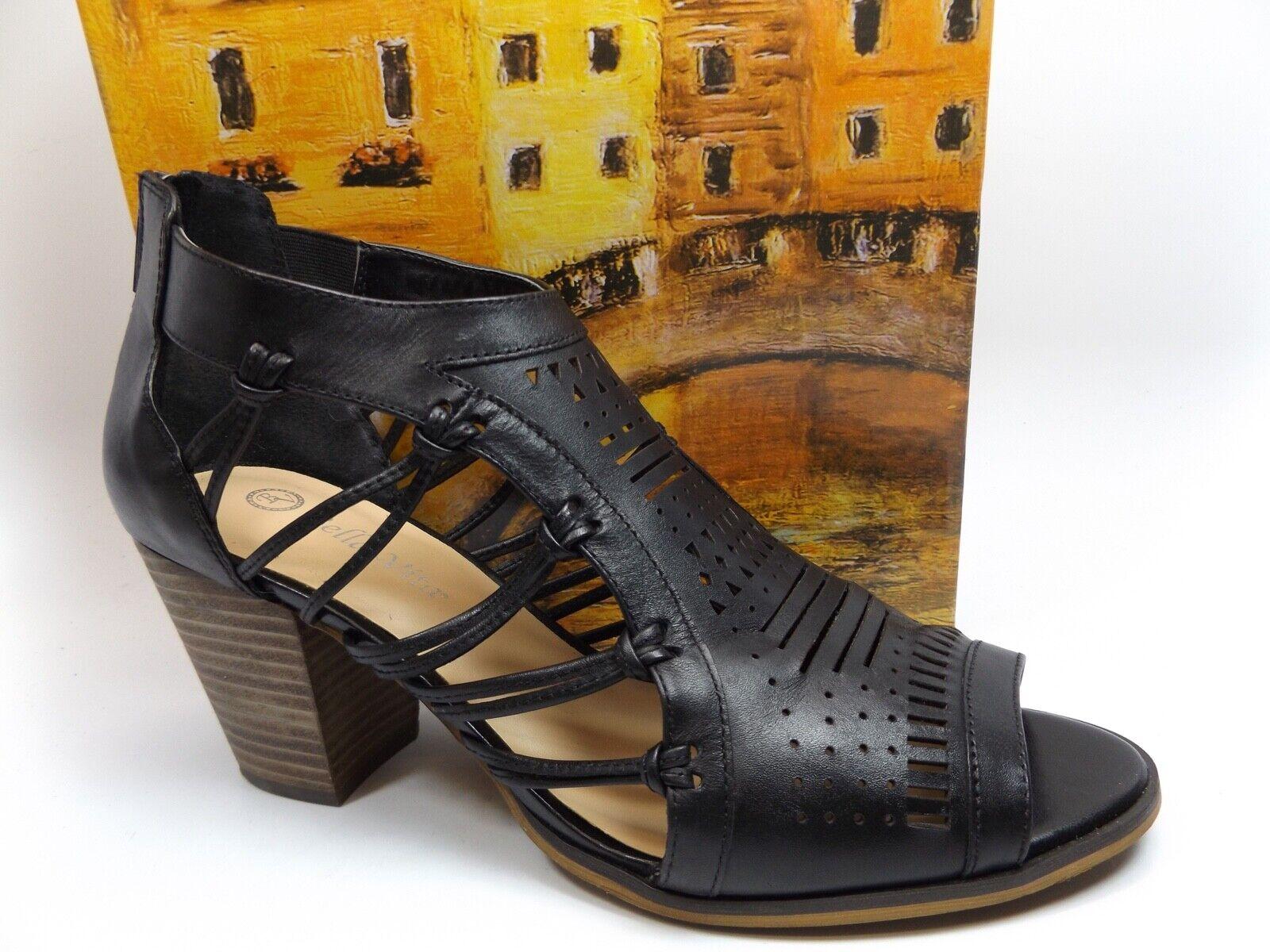 Bella Vita Kortez Block Heel Sandal Women's, SZ 11.0 WIDE, Black LEATHER, D10044