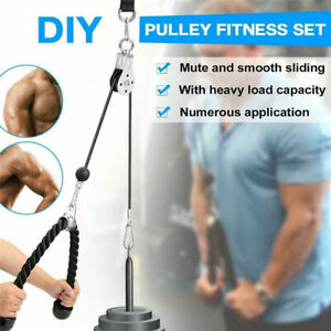 Bearing-Pulley-Triceps-Rope-Cable-System-Home-Gym-Training-Fitness-Sport-Machine