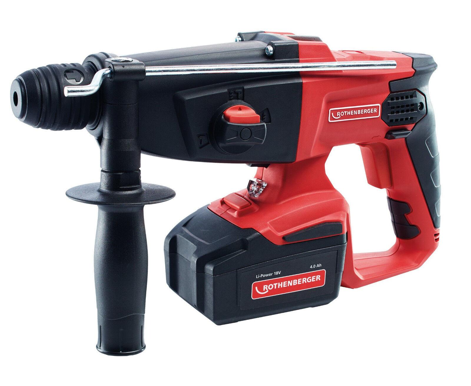 Rothenberger Akku-Kombibohrhammer RO RH4000 18V mit Akku + Ladegerät