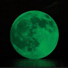 Waterproof 30cm Luminous Moon Glow in the Dark Wall Stickers Moonlight Decor