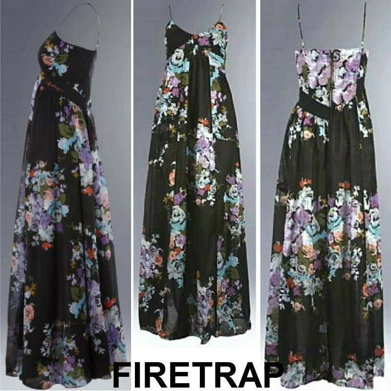 BRAND NEW FIRETRAP SUMMER BEACHWEDDINGEVENING FLORAL MAXI DRESS .SOLD-OUT