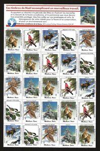 Canada-1988-CWF-Canadian-Wildlife-Federation-Cinderella-Xmas-Seal-SHEET-VF-NH