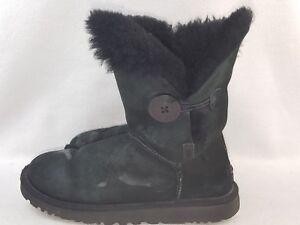 UGG-Australia-034-5803-034-Bailey-Button-Women-039-s-Winter-Boots-Black-Size-5