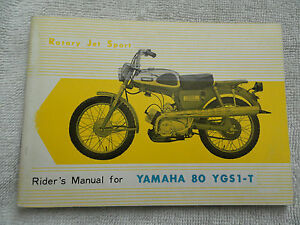 Yamaha 80 Owners Manual YGS1-T