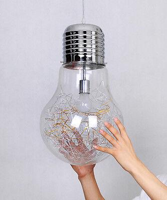 Home Decor Globe Glass Industrial DIY Bulb Ceiling Lamp Pendant Light Home Cafe