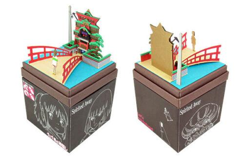 """Studio Ghibli mini Paper Craft Kit Spirited Away 11 /""""Yuya and Chihiro/"""""""