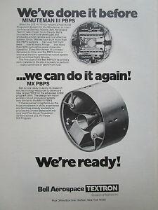 10-1977 PUB BELL AEROSPACE MINUTEMAN III MX PBPS POST BOOST PROPULSION AD Rkxy3Pal-09111400-311885665