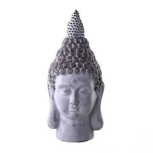 Buddha-Deko-Figur-Ethno-Esotherik-Statue-Zen-Gluecksbringer-Feng-Shui-Thai-Kopf