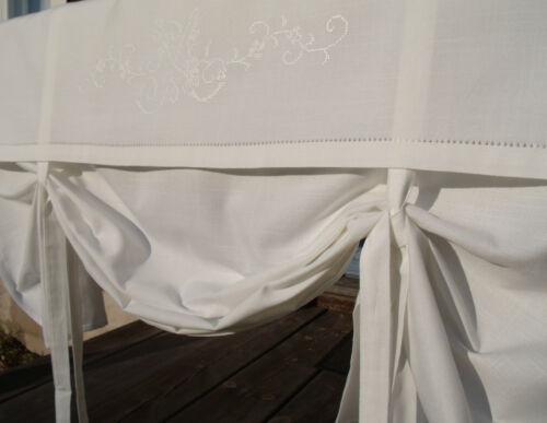 Raff Rideau Maja store à enrouleur 120x100 Offwhite lillabelle Shabby Style Maison de campagne Déco