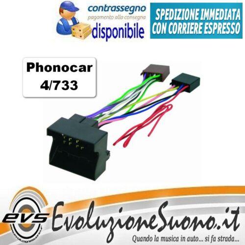 Fakra per Alfa Romeo Mito c// Navi Phonocar 4//733 Cavo Autoradio Connettore ISO