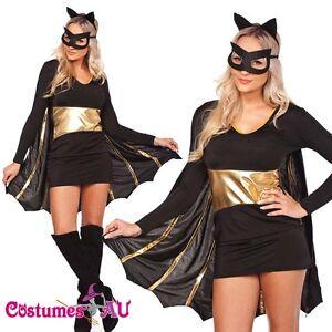 Ladies-Superhero-Batgirl-Costume-Halloween-Hens-Party-Fancy-Dress
