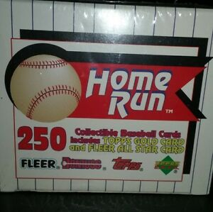 Details About 250 Home Run Brand 1993 Collectible Baseball Cards By 4 Major Card Companies