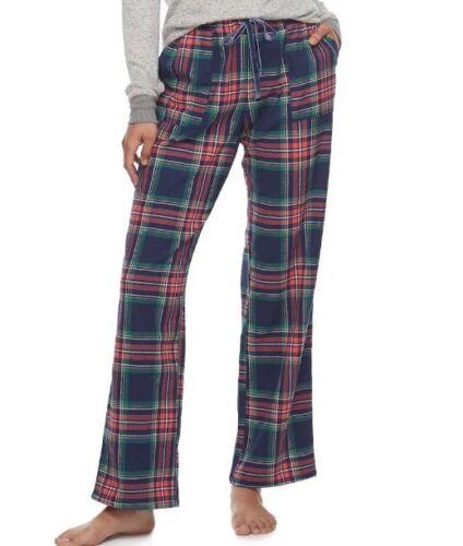 Plus Size 2X Sonoma Pajamas Lounge Wear Flannel Pants Navy Nordic Msrp$30