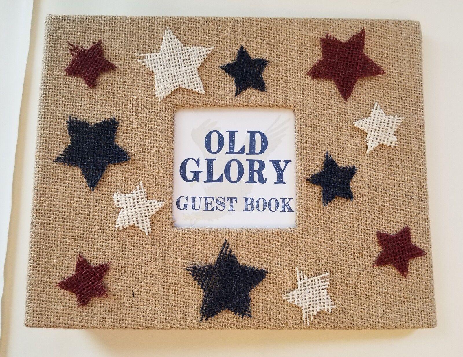 Rustique American Guest Book Set-LIVRE D'OR JUTE location signe maison cadeau AGENT