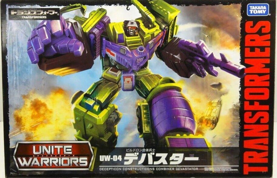 Transformers Takara Unite Warriors UW-04 Constructicons Devastator Rare New MISB
