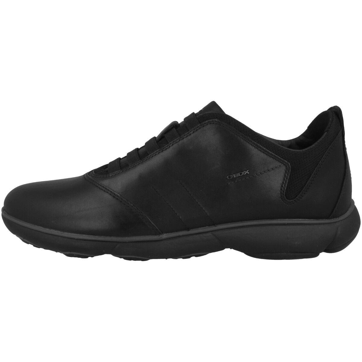GEOX U Nebula B Schuhe Herren Sneaker Freizeit Halbschuhe black U52D7B00046C9999