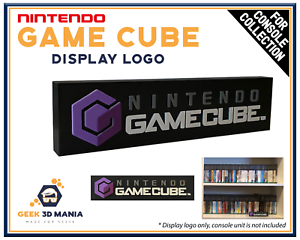 NINTENDO-GAME-CUBE-Display-Logo-pour-Collection-de-jeux-videos-Retro-Gaming