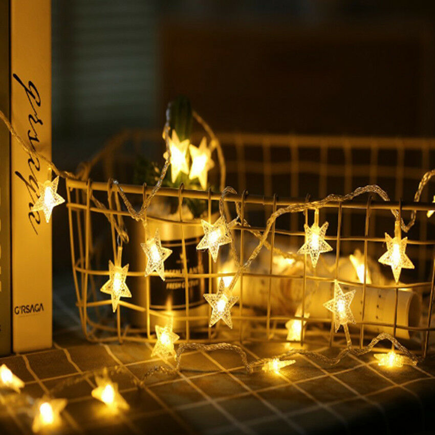 Led star string Christmas lights