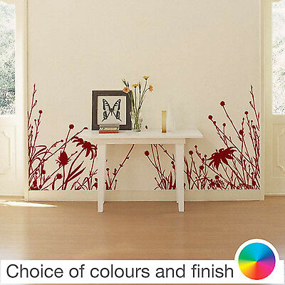 Flowers Wild Meadow Wall Sticker Home Decor Bedroom Living Room Kitchen Decal