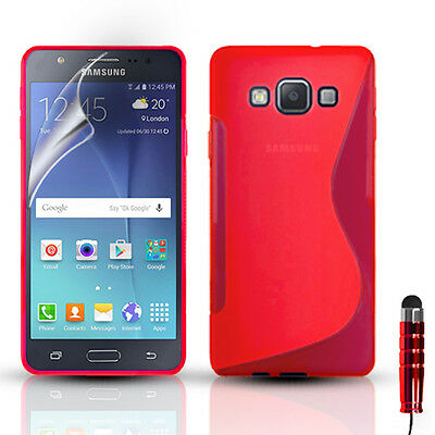 S-Line Silicone Gel Case Cover & Screen Protector for Samsung Galaxy J5 SM-J500F